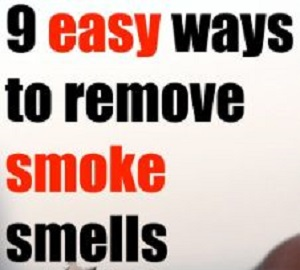 Ways to remove smoke odor